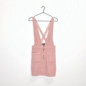 Wild Fable V-Neck Zip Front Corduroy Mini Dress M